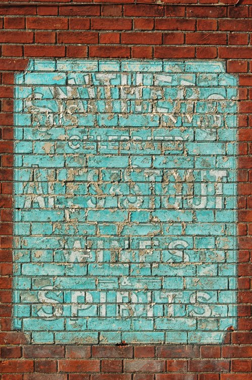 Old Typographic Side Of Building